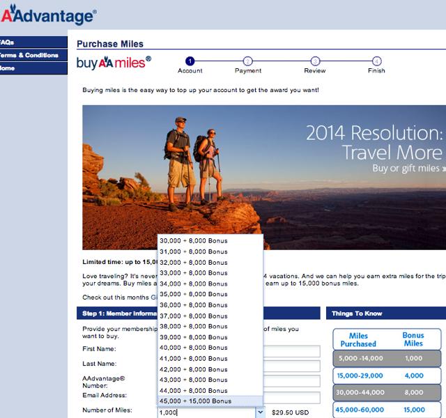 Worth It to Buy AA Miles or US Airways Miles with a Bonus?