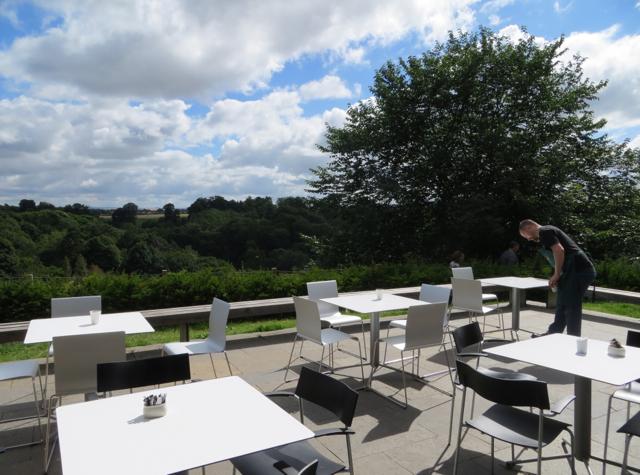 Rosslyn Chapel Coffee Shop Terrace with View of Roslin Glen