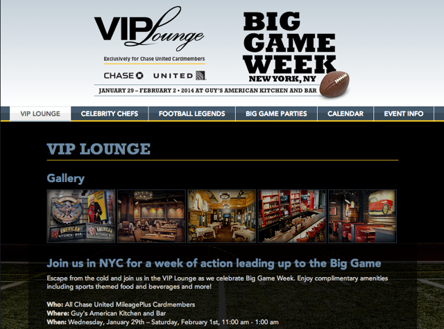 Chase VIP Lounge NYC for United Cardholders