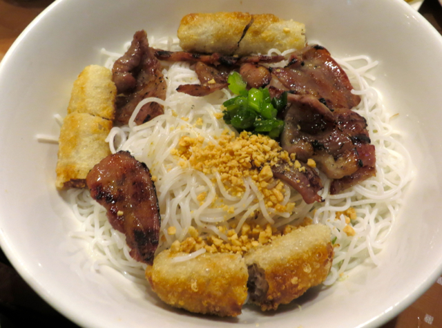 Ninh Kieu NYC Restaurant Review - Spring Rolls and Grilled Pork on Rice Vermicelli