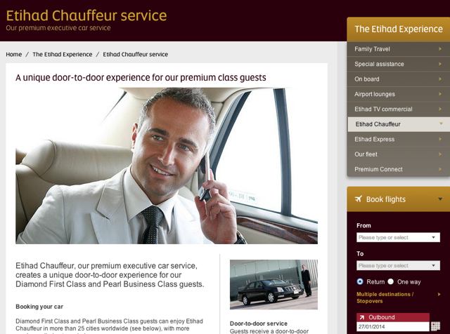 Etihad Chauffeur Service: Free Transfer within 100 Miles of LHR