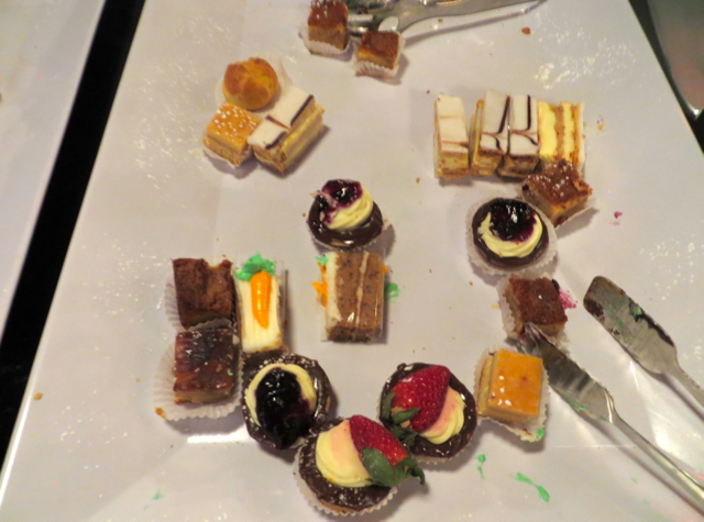 Chase VIP Lounge NYC for United Card Holders Super Bowl Week - Desserts
