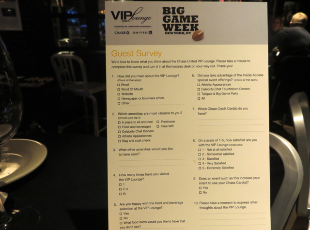 Chase VIP Lounge NYC for Super Bowl Week