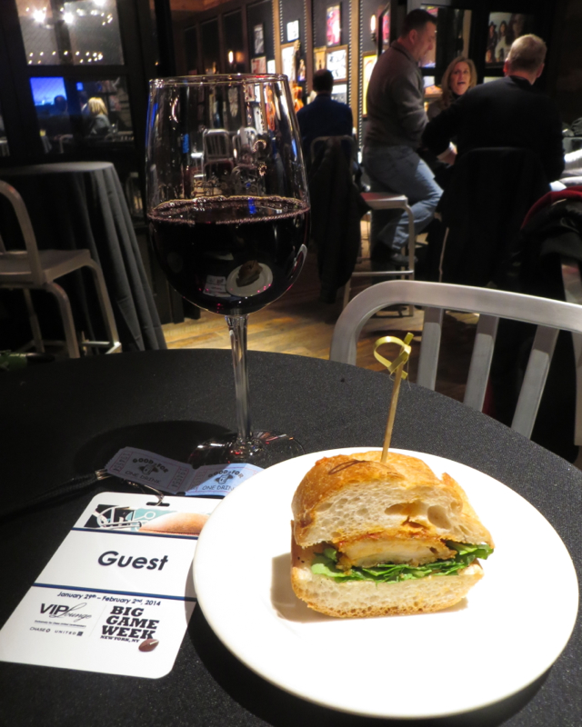 Chase VIP Lounge NYC for Super Bowl Week - Drink Tickets, Wine and Sandwich