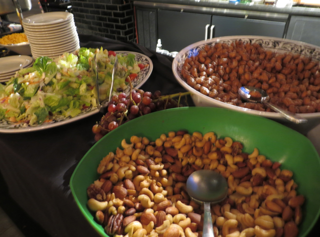 Chase VIP Lounge NYC for United Card holders - Salad and Mixed Nuts
