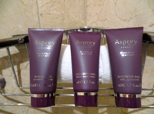 Ritz-Carlton Denver Hotel Review -Asprey of London Purple Water Bath Amenities