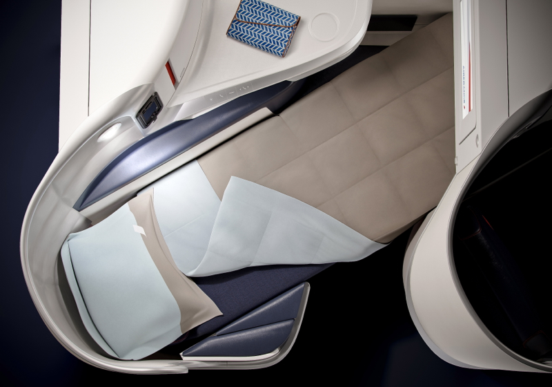 Air France New Business Class Seat - Flat Bed Seat