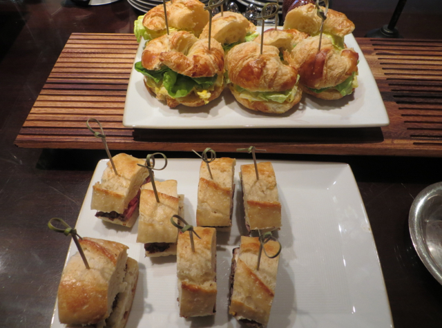Mid-Day Snack, Club Lounge at Ritz-Carlton Denver - Sandwiches