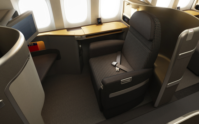 First Class Flight Awards to Europe with Frequent Flyer Miles - American New First Class Flagship Suite