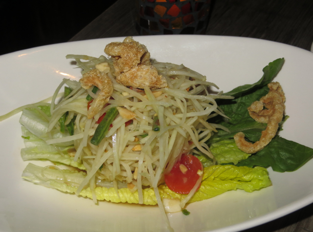 Up Thai NYC Restaurant Review - Som Tum Green Papaya Salad