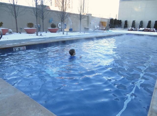 Four Seasons Denver Hotel Review - Outdoor Heated Swimming Pool