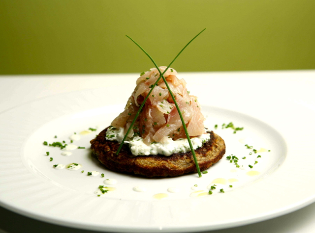 NYC Restaurant Week Winter 2014 - Where to Go - Telepan House Smoked Brook Trout on Blini