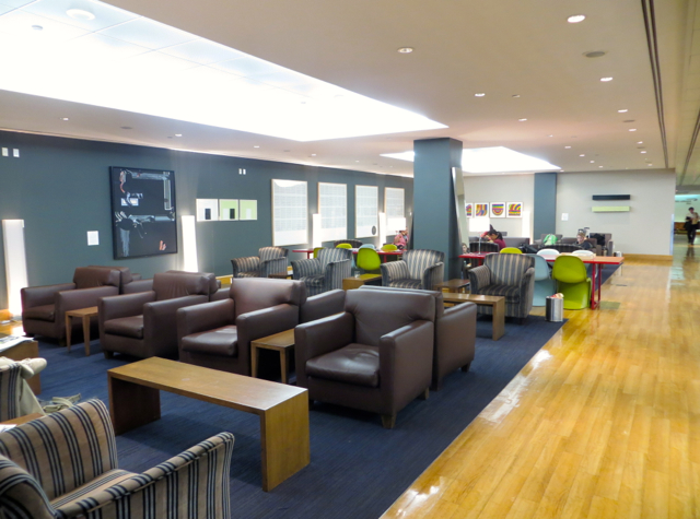 British Airways Galleries Lounge at JFK Terminal 7 Review-Seating near Elemis Spa