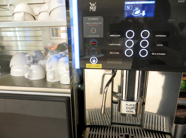 British Airways Galleries Lounge JFK Review - Espresso Machine