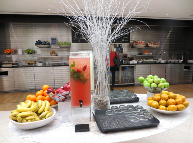 British Airways Galleries Lounge at JFK Terminal 7 Review - Fruit Infused Water and Fruit