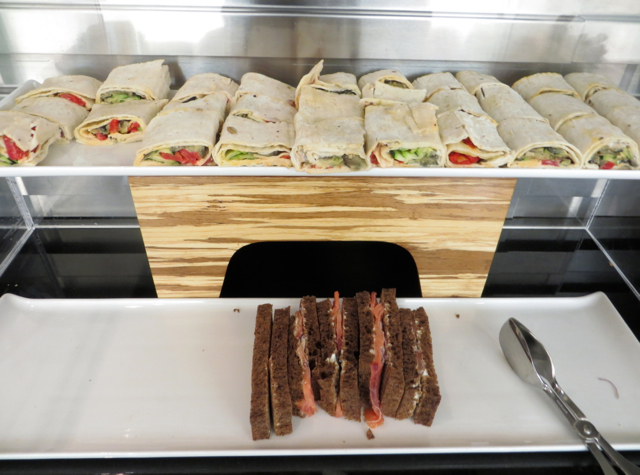 British Airways Galleries Lounge JFK Terminal 7 - Wraps and Sandwiches