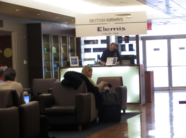 British Airways Galleries Lounge at JFK Review - Elemis Spa