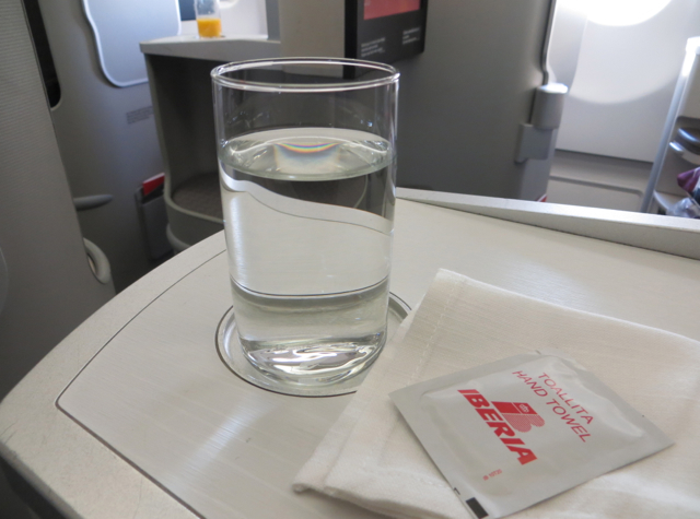 Iberia New Business Plus A330-300 Review - Pre-Flight Drink