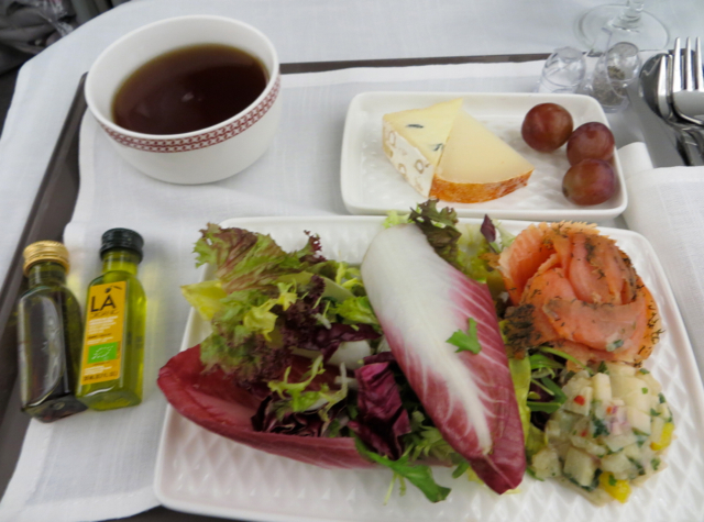 Iberia New Business Class A330-300 Review - Marinated Salmon Appetizer