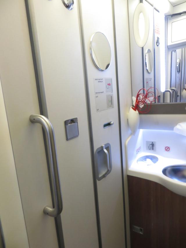 Iberia New Business Class A330-300 Review - Bathroom