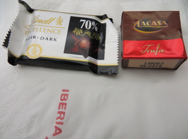 Iberia New Business Class A330-300 Review - Chocolates