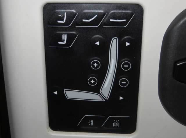 Iberia New Business Plus A330-300 Seat Controls