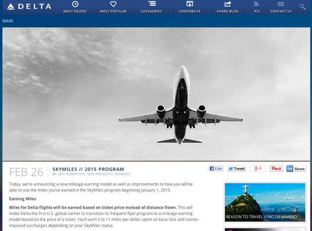 Delta Devaluation: SkyMiles Now Revenue Based