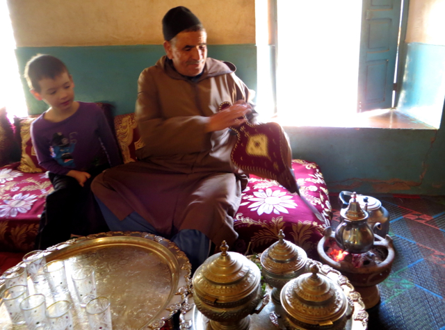 Atlas Mountains and Berber Village Tour from Marrakech - Using Antique Bellows for the Fire