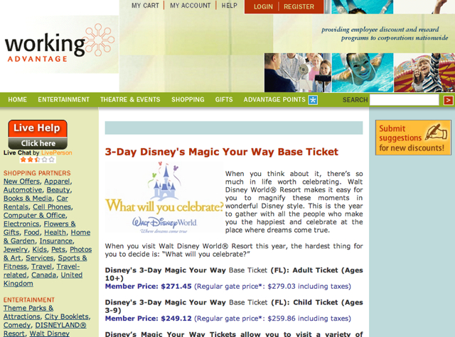 how to get discounted disney world tickets