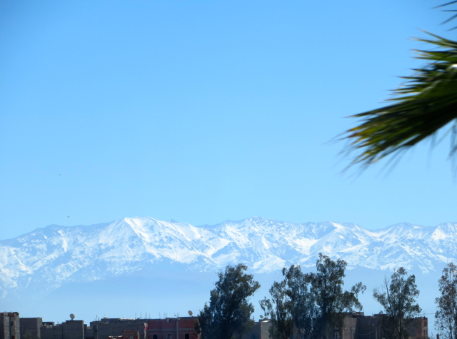 Amanjena Review Marrakech Morocco - Atlas Mountains