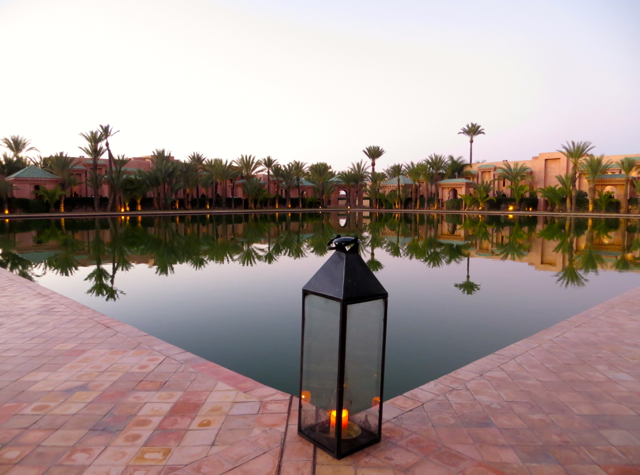Amanjena Review Marrakech Morocco - Central Pool
