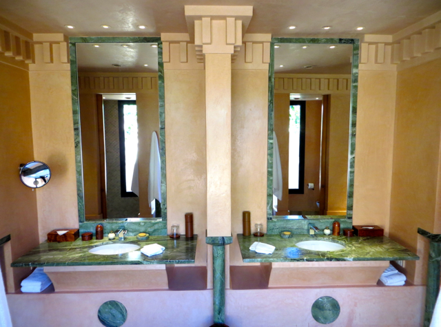 Amanjena Review Marrakech Morocco - Dual Vanities with His and Hers Sinks