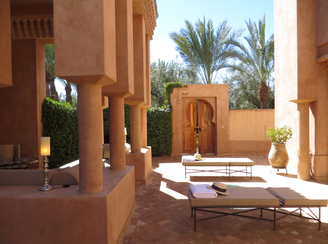 Amanjena Review Marrakech Morocco - Pavilion Courtyard