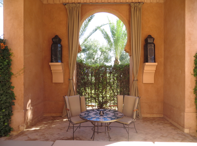 Amanjena Review Marrakech Morocco - Pavilion Courtyard Seating Area
