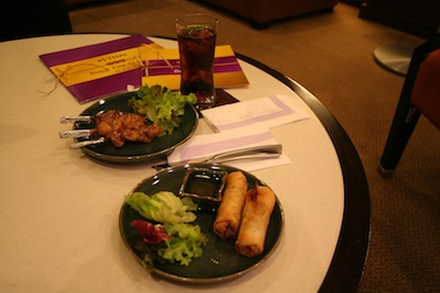 Food in Thai Airways First Class Lounge