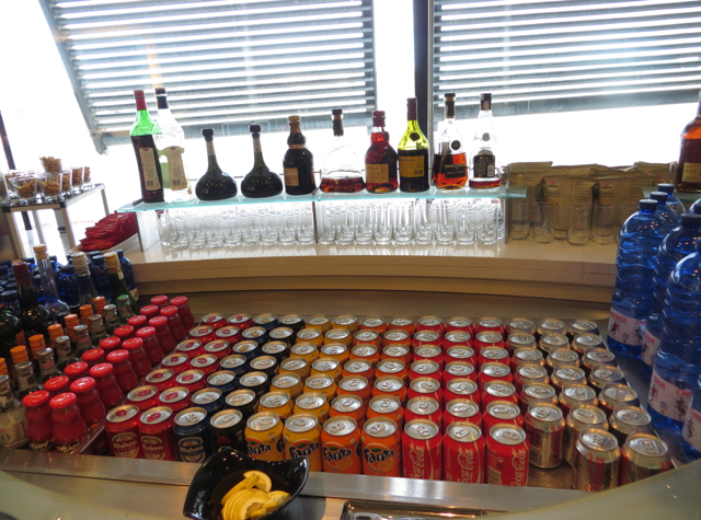 Iberia Business Class Lounge Madrid Review - Self Service Bar