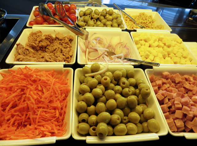 Iberia Business Class Lounge Madrid Review - Vegetables and Olives