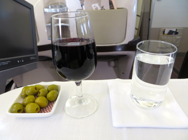 Iberia Business Class A340-600 Review - Wine and Olives