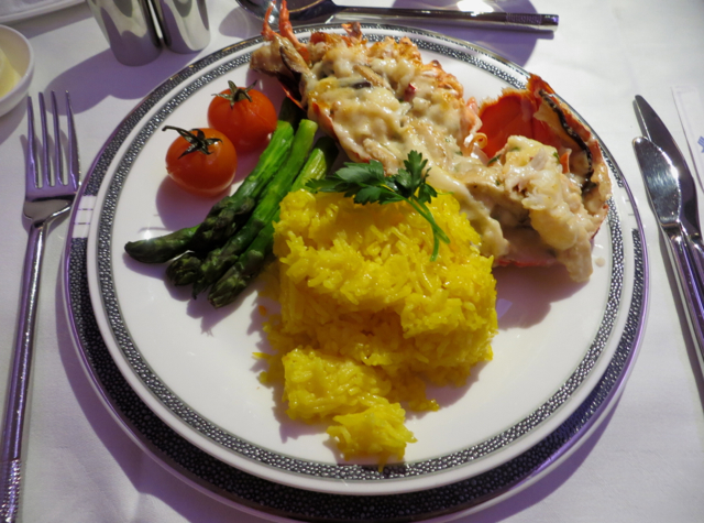 Singapore Suites A380 Review JFK to Frankfurt - Book the Cook Lobster Thermidor