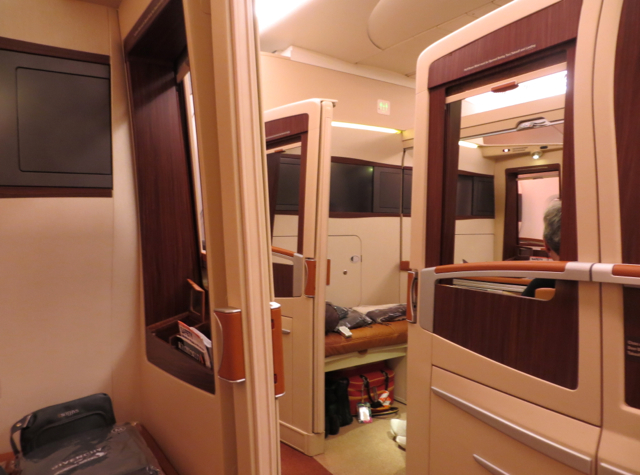 Singapore Suites A380 Review JFK to Frankfurt - View from Suite 3A