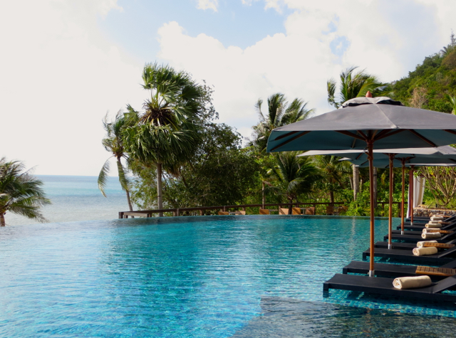 Relaxing, Poolside