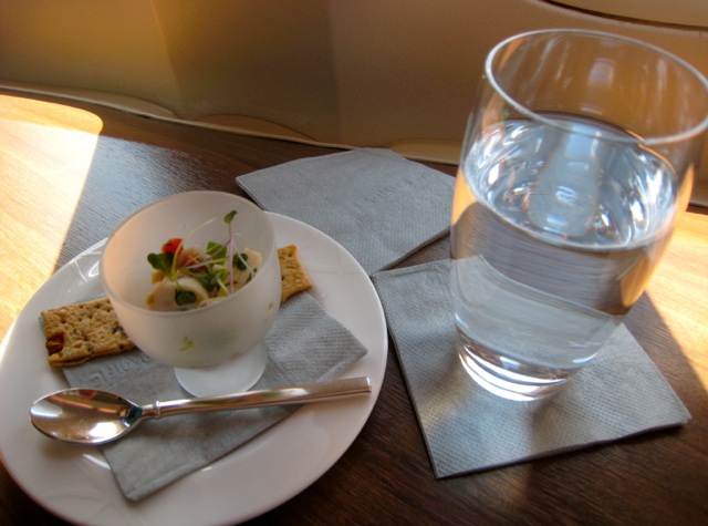 Cathay Pacific First Class Review - Amuse Bouche