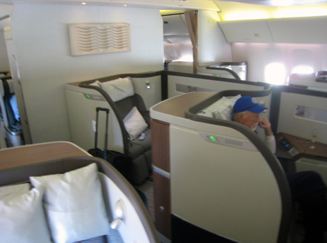 Cathay Pacific First Class Review NYC JFK to Hong Kong-First Class Cabin