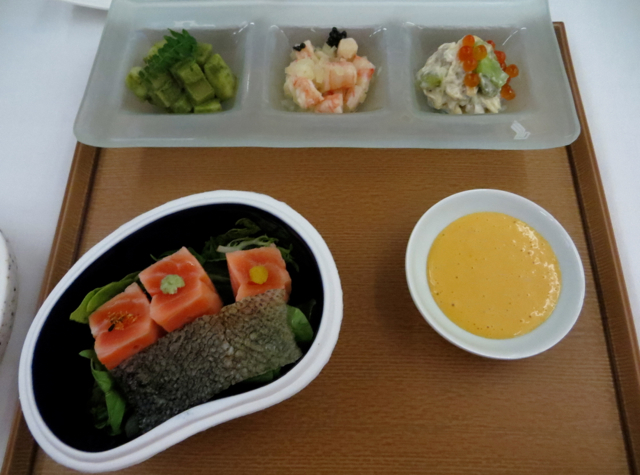Singapore Suites A380 Review: Singapore to Hong Kong - Book the Cook Japanese Kaiseki First Course