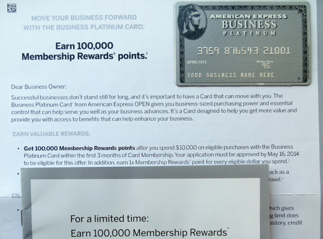 Amex Business Platinum 100k Bonus Offer Targeted