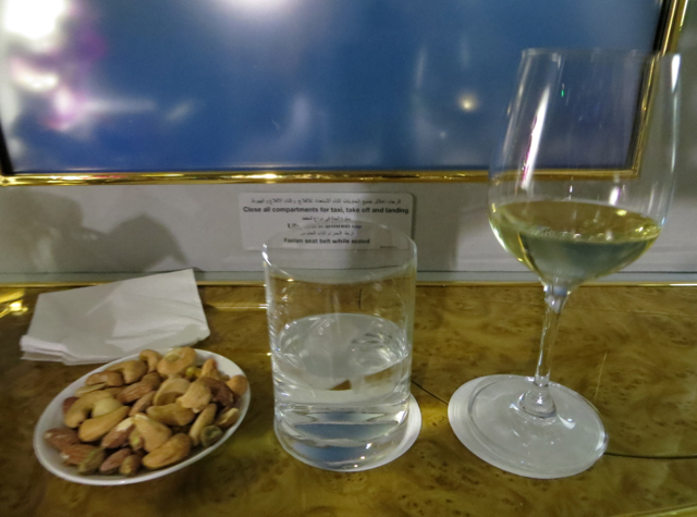 Emirates First Class A380 Review - Warm Nuts Prior to Meal