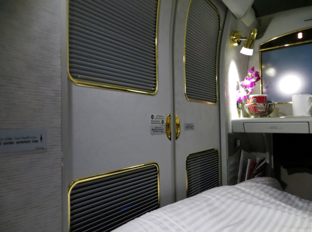 Emirates First Class A380 Review - Suite Doors Closed