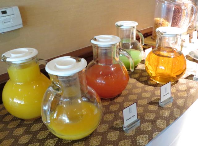 Novotel Bangkok Airport Executive Lounge Breakfast Juices