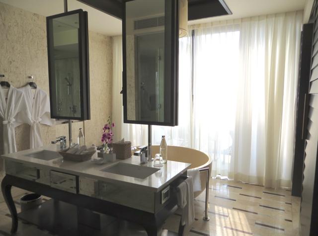 Conrad Koh Samui Review - Bathroom with Dual Vanities