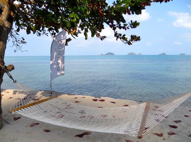 Conrad Koh Samui Review - Hammock at the Beach